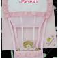 Fiocco nascita mongolfiera rosa per bambina
