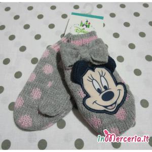 Guanti muffole grigio Minnie Mouse