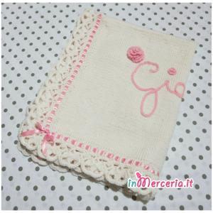 Copertina in lana per neonato con nome