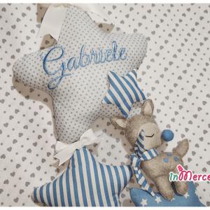Fiocco nascita stelle con cerbiatto Gabriele