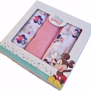 Set 3 Quadrati Garza in Cotone Minnie Mouse - Disney