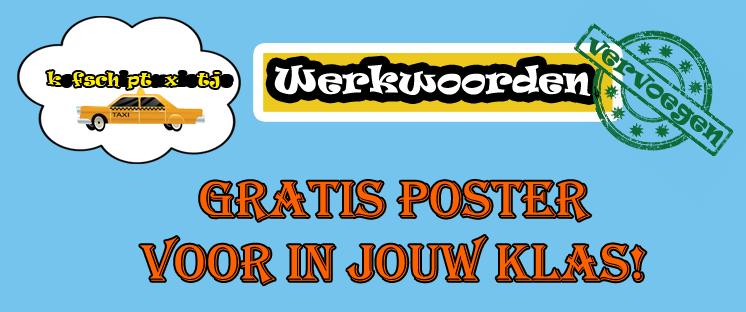 Poster werkwoorden vervoegen gratis