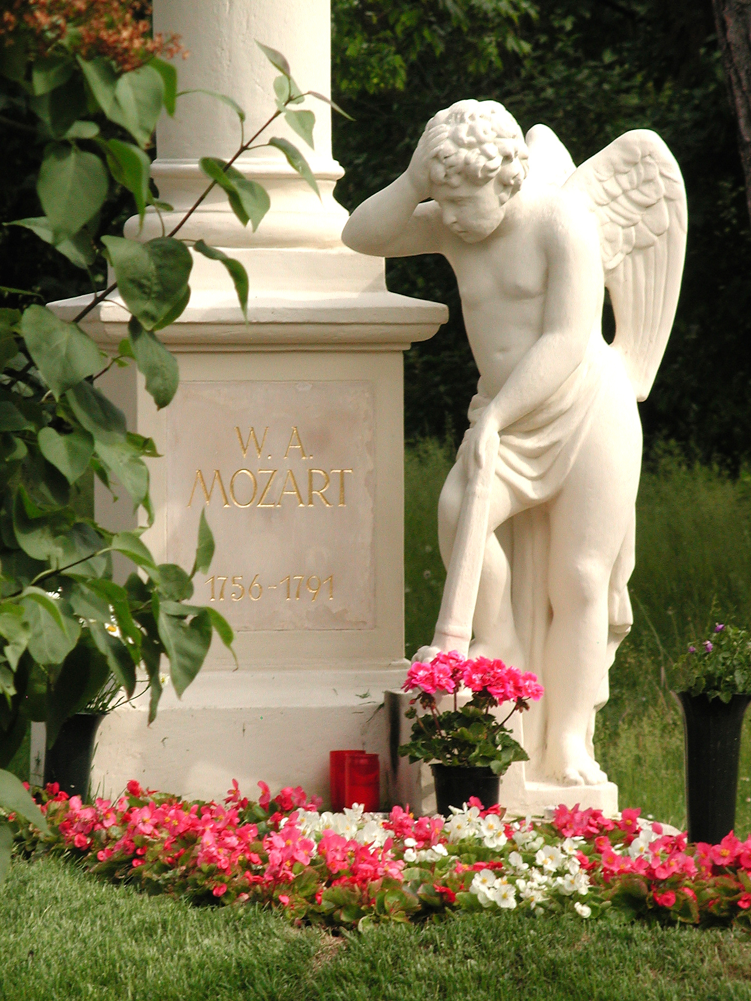 Image result for cemetery  mozart