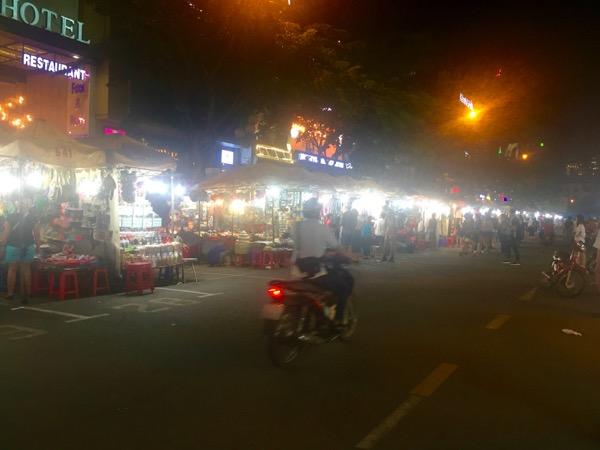 best night market saigon motorbike