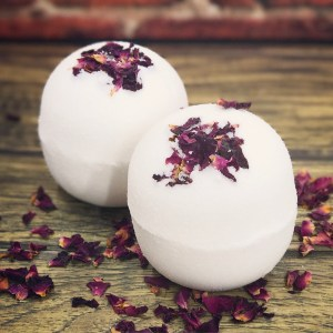 Rose and shea butter bath bombs