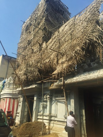 I don't know why part of the roof was thatched