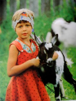 Peasant girl with goat