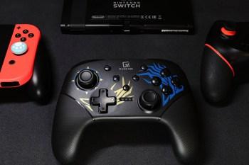 [開箱]最帥的Switch副廠手把-GAME'NIR Pro X-Dragon龍紋特仕款,可喚醒主機、自由調節震動強度。