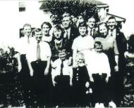 The Harburn clan in 1925 in Flint, MI: Grandpa (back row, 2nd from right)