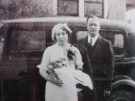 Grandpa and Grandma on their wedding day near New Lothrop, MI, May 5, 1934