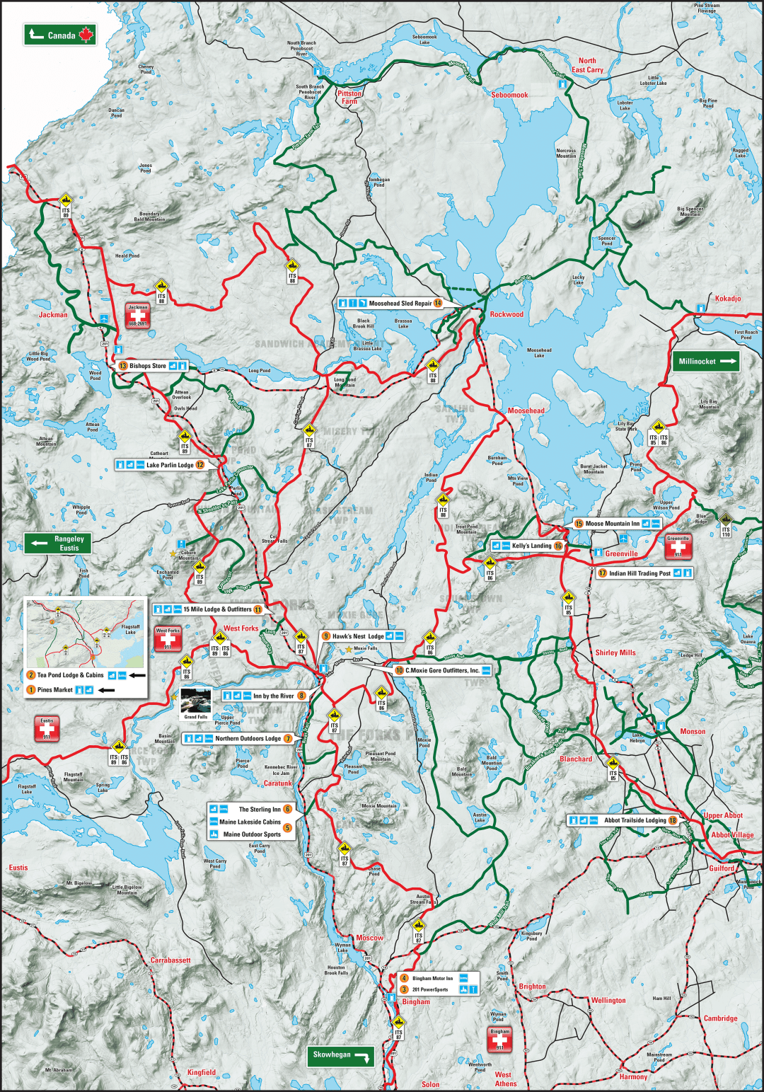 Forks Area Snowmobile Map
