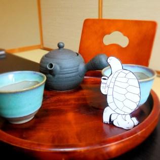 Thee drinken in een Ryokan