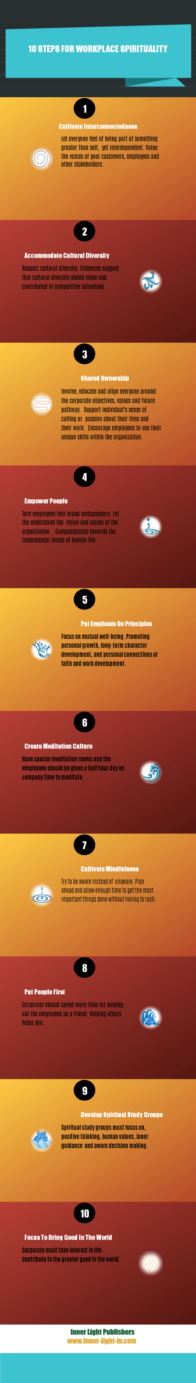 10 steps for workplace spirituality infographic