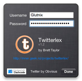 Twitterlex 1.2 Screenshot Back