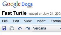 Google Docs save icon