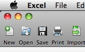 Excel 2008 save icon