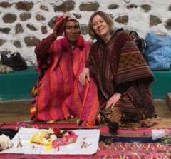 Practicing shamanic healing with indigenous elders, Boston psychologist Samvedam Randles.