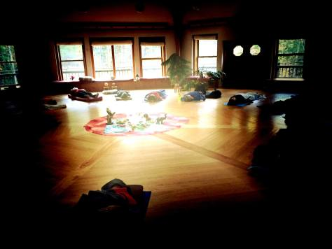 ceremony in sunlight at the 2017 Blessing Way retreat, a training in Systemic Constellation work and breathwork,