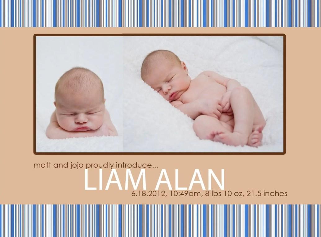 birth-announcement Matt+JoJo+Mattie+Liam