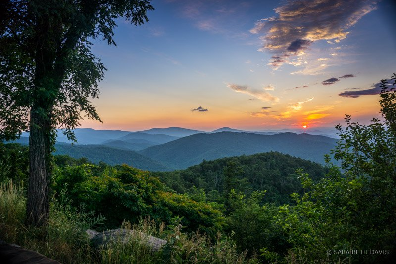 Buck Hallow Overlook Sunrise in Shenandoah National Park