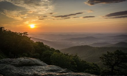 Viewing Sunrise in Shenandoah National Park's Central District
