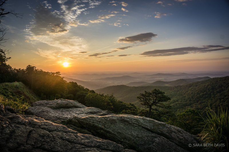 Hazel Mountain Overlook Sunrise in Shenandoah National Park