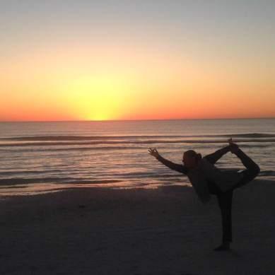 florida yoga sunset