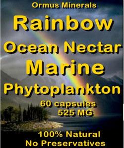 Ormus Minerals -Rainbow Ocean Nectar Marine Phytoplankton capsules