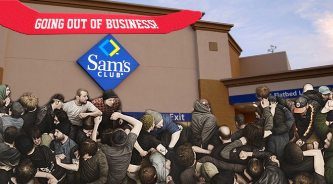 Bruises & PTSD at Wholesale Prices: Chaos at Sam's Club Going-Out-Business Sale
