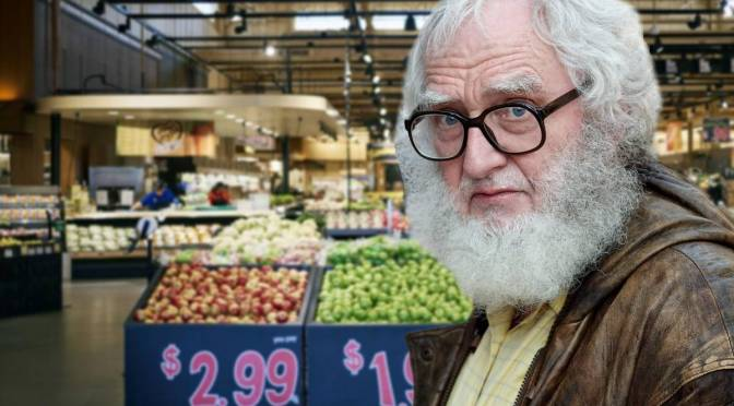 Old Person in Wegmans Comes to a Complete Stop for No Apparent Reason