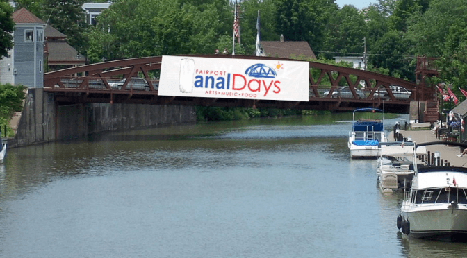 """""""Anal Days"""" Set To Commence Tomorrow In Fairport, According To Vandalized Sign"""