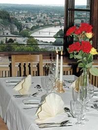 Restaurant zur Festung Hohensalzburg mit grandiosem Blick auf die Stadt Salzburg