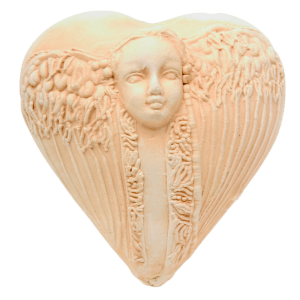 Earthenware Guardian Angel Heart Encourage Miracles