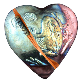 Frog Heart Raku: Encourage New Beginnings