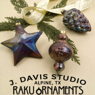Raku Ornaments by J. Davis Studio