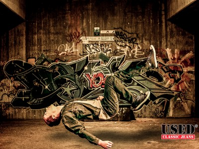 USED jeans Ad with Levitation Photography