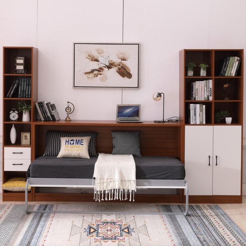 super single horizontal hidden wall bed space saving foldable murphy bed ssh 000