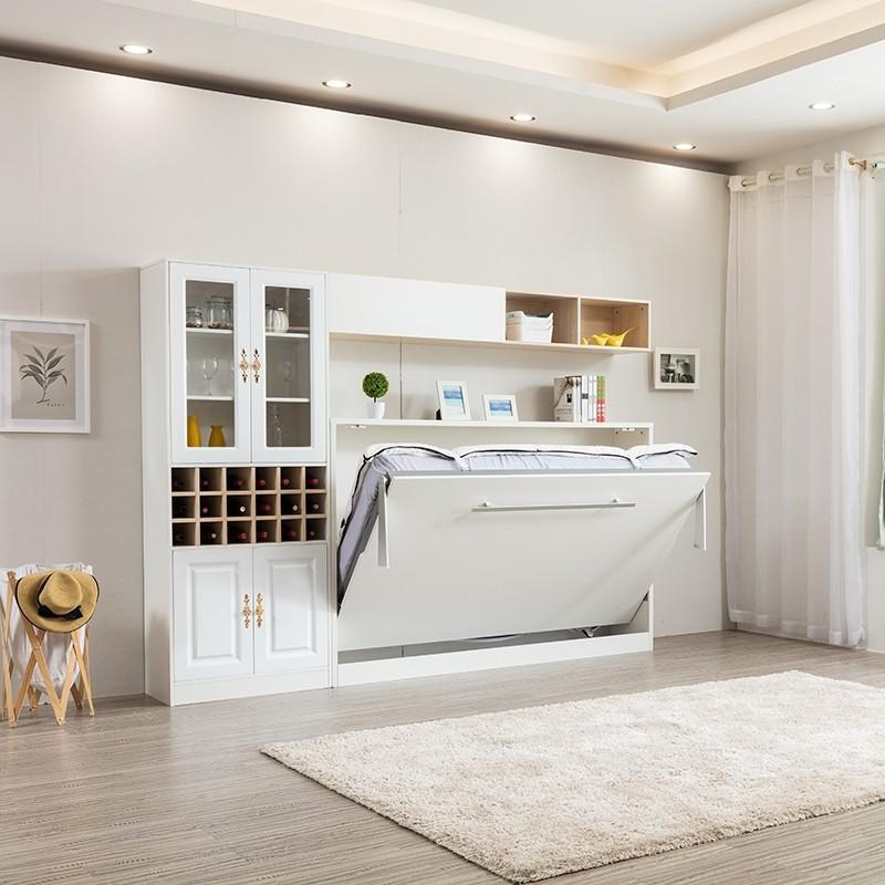 detached sofa queen horizontal hidden wall bed space saving foldable murphy bed qh 001d