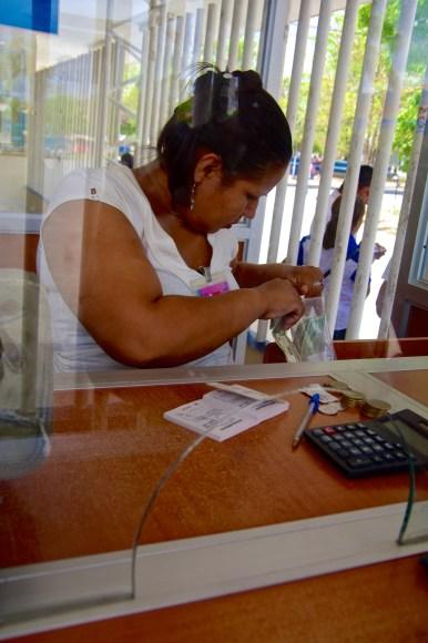Penas Blancas tax collection booth.