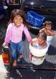 "Gotta love Semana Santa ""bucket showers""!"