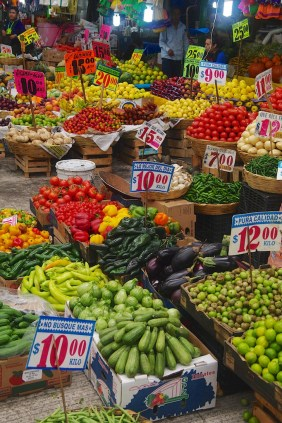 We were amazed at the variety of fruits and vegetables that are available in Mexico City compared to what we can get in Nicaragua.
