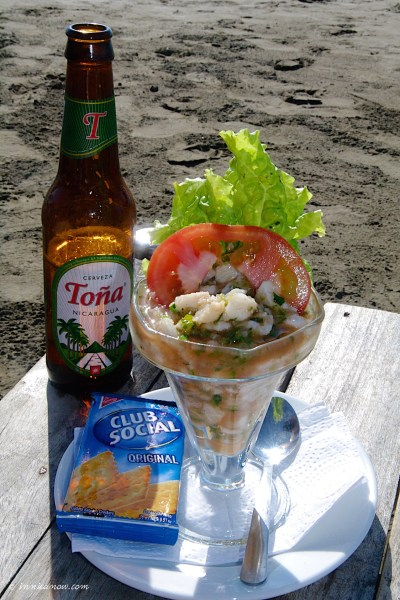 """CEVICHE DE PESCADO: Bar y Restaurante """"Vivian"""", San Juan del Sur Nicaragua"""