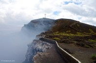 """They planted a cross, """"La Cruz de Bobadilla"""" (named after Father Francisco Bobadilla), on the crater lip in the 16th century in order to exorcise the Devil."""