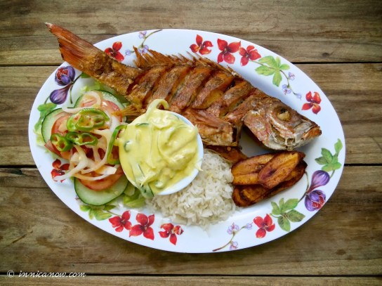 Pargo Rojo Entero: Gaby's Restaurant, Playa Marsella, San Juan del Sur, Nicaragua