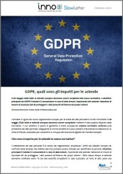 Cover Road to GDPR 2018 - SlowLetter Febbraio 2018