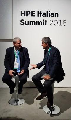 HPE Italian Summit 2018 - Paolo Delgrosso, Channel & Alliance Sales Director di HPE e Stefano Venturi, Vice Presidente, Amministratore Delegato Gruppo Hewlett Packard Enterprise in Italia