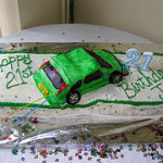 >His Birthday Cake – My Mom made