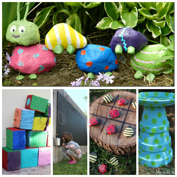 kids garden collage