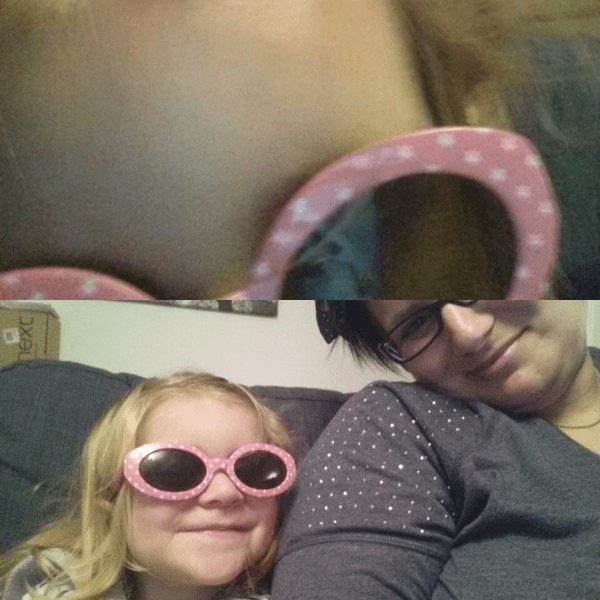glasses with Addison