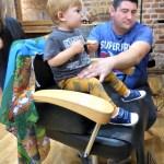 Deacon's First Haircut